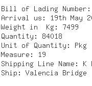 USA Importers of elevator - Nissin International Transport