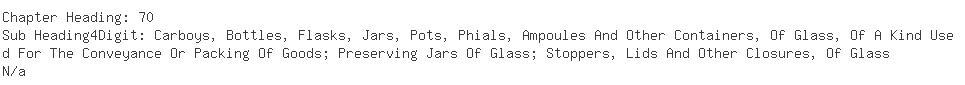 Indian Exporters of empty glass - Raja Tradelinks Pvt. Ltd