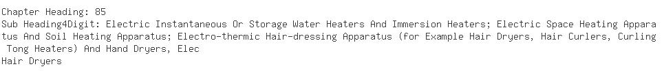 Indian Importers of hair dryer - Indo Matsushita Appliances Co. Ltd