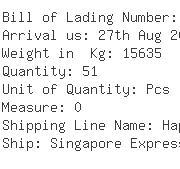 USA Importers of hex head screw - Panalpina Inc -ocean Freight
