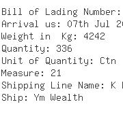 USA Importers of ice cream - Ups Ocean Freight Services Inc
