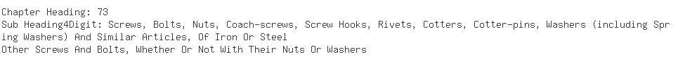 Indian Importers of machine screw - Hanil Era Textiles Ltd
