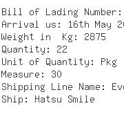 USA Importers of net card - Egl Ocean Line