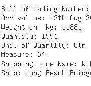 USA Importers of plastic clock - Egl Ocean Line C O