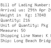 USA Importers of resins - Ups Ocean Freight Services Inc