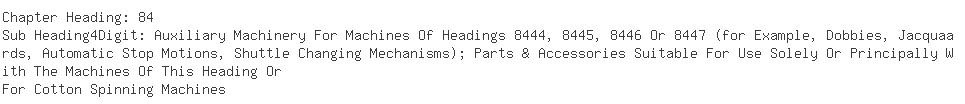 Indian Exporters of ring frame - Exemplar Nihon Spindle Mfg Co. Pvt. Ltd
