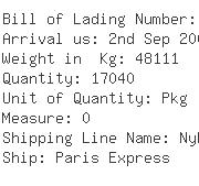 USA Importers of shrimp - Oceanic Container Line Inc