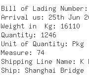 USA Importers of tin - Egl Ocean Line C O