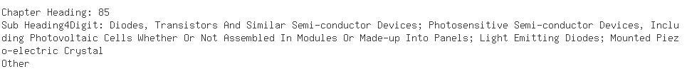 Indian Importers of transistors - Ocean Trade