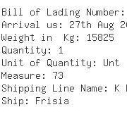 USA Importers of valve ball - Kuehne Nagel Inc