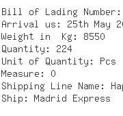 USA Importers of water pump - Egl Ocean Line