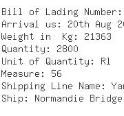 USA Importers of yarn jute - Apex Maritime Co Ord Inc