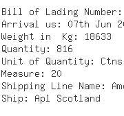 USA Importers of zip - Apl Logistics Hong Kong